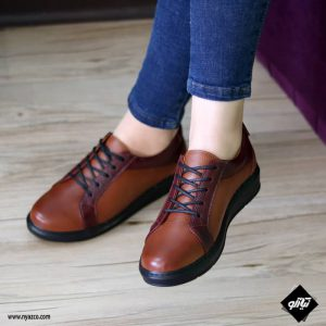 خرید کفش روزمره زنانه ونس کد ۲۲۰ رنگ عسلی
