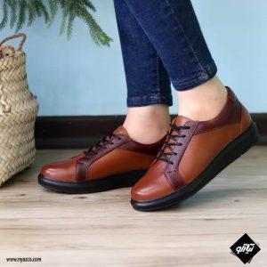 کفش روزمره زنانه ونس کد ۲۲۰ رنگ عسلی